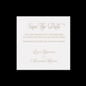 Save the date huwelijkskaart