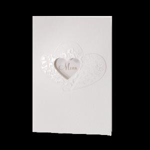 Belarto Huwelijk trouwkaart met sierlijk uitgesneden harten