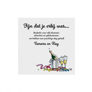 Save The Date of bedankkaart 'have fun'  passende bij uitnodiging: 786103, 786104, 786105 en 786108
