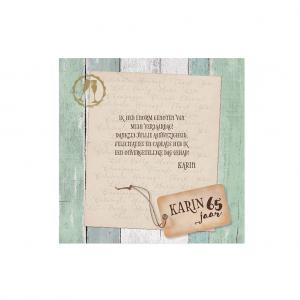 Deze Save the Datekaart of bedankkaart retro met boothoutlook is onderdeel van een set, artikelnummer 786061