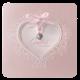 Romantisch babykaartje met een sierlijk hart
