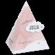 Piramide met aquarel wolk in het roze