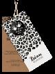 Luipaard geboortekaartje met leuke labels