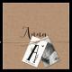 Geboortekaartje tijdloos geboortjekaartje met kraft omslag en labels