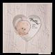 Geboortekaartje grappig geboortekaartje met stans in hartvorm