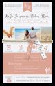 Huwelijkskaart met blanco kaart met koord en labels.  Trendy huwelijksaankondiging, helemaal naar eigen wens in te vullen