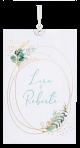 uitschuifbare huwelijkskaart in botanische sfeer