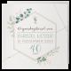 Uitnodiging - Aquarel met eucalyptus takjes