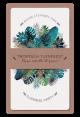 Trendy uitnodigingskaart met blauw/groene bladeren en gouden accenten