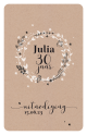 Uitnodiging - Bloemenkrans