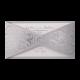 Uitnodiging - Zilveren bloemenmotief