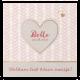 Romantisch geboortekaartje met gouden hartjes voor het mooiste meisje!
