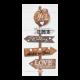 Hippe trouwkaart met steigerhout en speels label