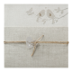 Naturel trouwkaart op structuurpapier met vogels, incl. touwtje en hart