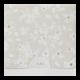 Stijlvolle vierkante trouwkaart met bloemetjes en platinafolie