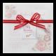 Kleurrijke trouwkaart met transparante wikkel en bloemenprint