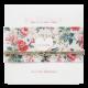 Klassieke trouwkaart met bloemen en hartjes bedeltje aan touwtje