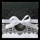 Luxe trouwkaart in stijlvol zwart/wit met losse applicatie