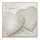 Originele, parelmoer witte trouwkaart met magneetsluiting