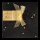 Trouwkaart met origineel doorkijkje en goud strikje