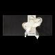 Bijzondere trouwkaart met uitstekende harten in chique zwart