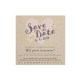 Save the date met hartje en liefdesbrief