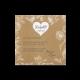 Bedankkaart passend bij de trouwkaart met vintage look