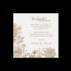 Bedankkaart passend bij de trouwkaart met witte bloemen op houtmotief