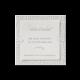 Save the date passend bij de klassieke trouwkaart met strass steentjes
