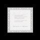Bedankkaart passend bij de trouwkaart met omgevouwen hoekje