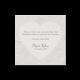 Bedankkaart passend bij de trouwkaart op parelmoerpapier met hartjesmotief