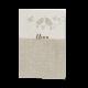 Menukaart passend bij de naturel trouwkaart met vogels