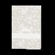Trouwkaart Menukaart passend bij de vierkante trouwkaart met bloemetjes