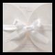 Huwelijkskaart met witte strik