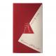 Bordeaux rode kaart met glaasjes in goudfolie en glinsterend inlegvel.