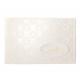 Geschept papier met barokpatroon in parelmoerfolie. Voorzie deze uitnodiging van 1 van de 3 applicaties die worden meegeleverd: uitnodiging, 40 jaar, 50 jaar.