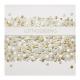 Uitnodiging chic met confetti effect op parelmoer papier, voorzien van folie en lint met label.