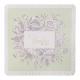 Klassieke kaart met kanten randje en vintage bloemen. Uitgewerkt met details in reliëf.