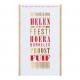Orginele typografische uitnodiging met goudfolie. De rode tekst is in kleur aanpasbaar en naar eigen wens in te vullen.