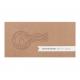 Originele uitnodiging in de stijl van een (vip)ticket, met reliëf stempel op kraftpapier en plaats voor eigen foto.