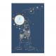 Uitnodiging met kleurrijke en gouden bubbels met een doorkijkje naar eigen tekst.
