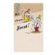 Feestelijk geïllustreerde kaart, met speelse vouwwijze.